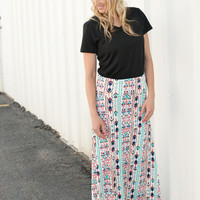 Tribal Maxi Skirt - 2 Colors