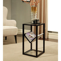 Abbyson Living Wilshire Glass End Table Bookshelf | Overstock.com
