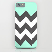 Minty Chevron iPhone & iPod Case by Hannah