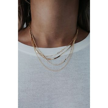 Love For Layers Necklace: Gold
