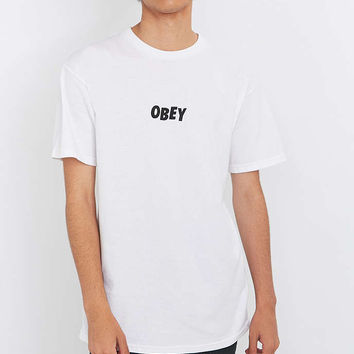 Obey Jumbled White Tee - Urban Outfitters