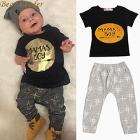 Bear Leader Summer Newborn Infant Baby Boys Kid Clothes T-shirt Tops + Pants Outfits Sets Children's Clothing