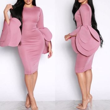 Pookie Petal Sleeve Dress