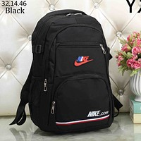 NIKE simple wild tide brand men and women casual fashion backpack black