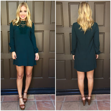 Emerald City Crochet Long Sleeve Dress