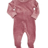 Kipp Baby Blush Rib Velour Footie
