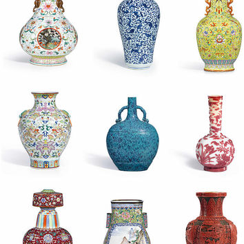 Asian Art Chinese Pottery - Vases