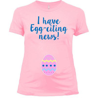 Easter Pregnancy Shirt Maternity T Shirt Spring Announcement New Baby Reveal Easter Outfit Expecting Mom To Be Pregnant Clothes - SA1043