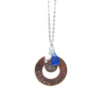 Compass Charm Necklace with Gift Box