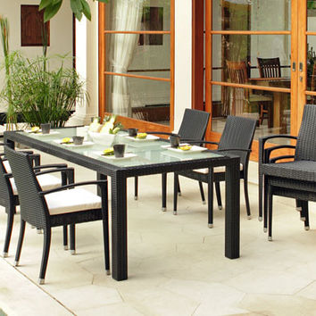 2017 Newest Outdoor Garden Furniture Poly Rattan cheap chinese restaurant dining tables and chairs