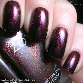 NOTD: Zoya ? Valerie (Flame Nail Polish Collection Winter 2010) | The Swatchaholic . a blog about nail polish and makeup