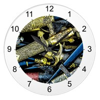 Daggers, Dirks and Sabres Large Clock