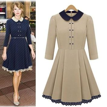 Casual Dress With Collar