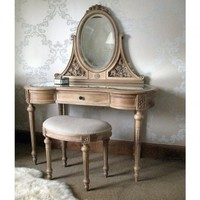 Antoinette Oak French Dressing Table
