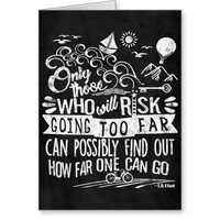 Adventurous Dreamer Motivational Chalk Typography Greeting Card