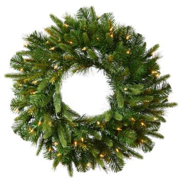 "24"" Pre-Decorated Frosted Pine Cone and Red Berry Artificial Christmas Wreath Unlit"