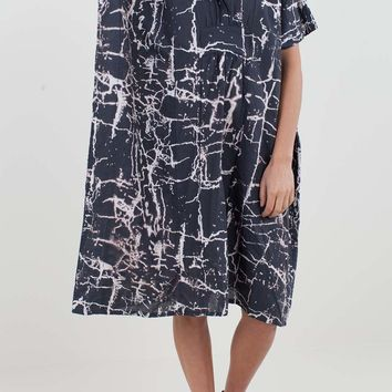 Organic Linen Caftan - Charcoal Crackle | Emerson Fry