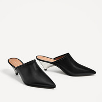 SLINGBACK LEATHER SHOES DETAILS