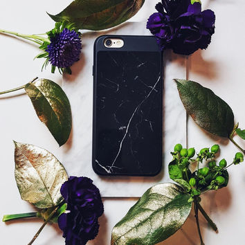 Marble iPhone 6 Case - Real Marble! Made of 100% Authentic Imported Marble Veneer. Comes in White Marble + Black Marble. Luxe + Lightweight