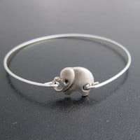 Elephant Bracelet, Silver Elephant Bangle, Elephant Jewelry, Animal Bangle, Animal Bracelet, Animal Jewelry, Cute Elephant Charm Bracelet