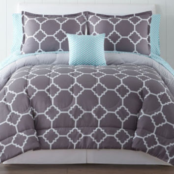 Home Expressions™ Tiles Complete Bedding Set with Sheets - JCPenney