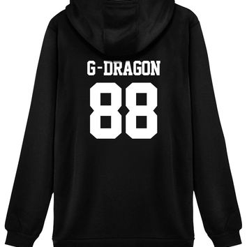 KPOP BigBang Hoodie Sweater 88 G-DRAGON Jacket Pullover