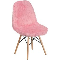 Shaggy Dog Light Pink Accent Chair - Walmart.com