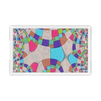 Colorful Art Deco Tile Mosaic Serving Tray