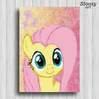 Fluttershy my little pony poster kids decor