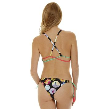 Stringer Cheeky Bikini Bottom - Cali Coast Print