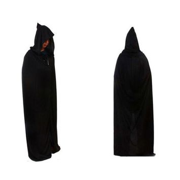 DCCKIX3 Halloween Death Devil Tippet Hoody Cloak Costume Cosplay Theater Prop Cap Black = 1932218308