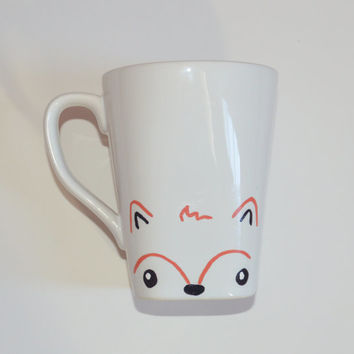 Fox Mug Fall Mug Autumn Mug Animal Lover Mug Woodland Creature Mug