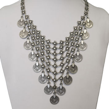 Vintage Coin and Chain Necklace