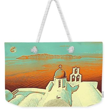 Santorini Greek Island Caldera, Greece 9 - Weekender Tote Bag