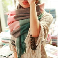 2016 New Fashion Wool Winter Scarf Women Scarf Thick Shawls and Scarves Cashmere Long Scarf Plaid For Women
