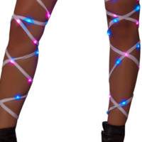 Blue/Pink Light Up Leg Wraps