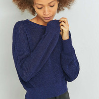 Sparkle & Fade Slouchy Lurex Jumper - Urban Outfitters