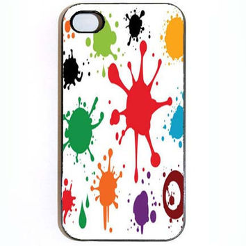 iPhone 4 4s Case Custom Paint Splash Hard iPhone by KustomCases