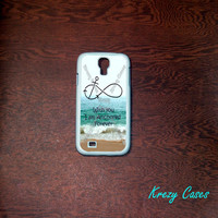 Samsung Galaxy S4  Case, Forever anchored infinity Samsung Galaxy S4/S3 Phone case, Samsung Galaxy S3 Cases, Galaxy S4/ S3 case