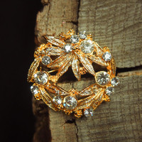 Christmas Wreath Brooch #5198