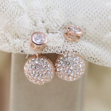 New jewelry fashion diamond studded with new earrings