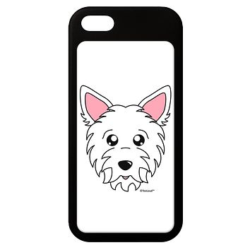 Cute West Highland White Terrier Westie Dog iPhone 5 / 5S Grip Case  by TooLoud