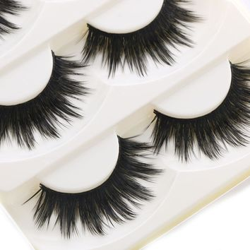 5 Pairs Soft Women Lady Makeup Thick False Eyelashes Eye Lashes Long Black Nautral Handmade Makeup Beauty Tools YY09