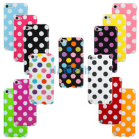 13 Color Cute Polka Dot TPU Back Case Cover Skin for Apple iPod Touch 5 5th G HK