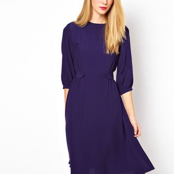 ASOS Skater Dress With Waist Tab Detail