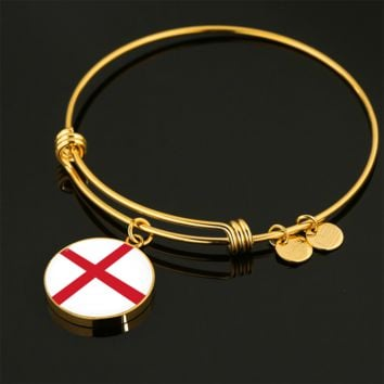 English Pride - 18k Gold Finished Bangle Bracelet