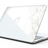 Pale Blue and White Marble Surface - MacBook Pro with Retina Display Full-Coverage Skin Kit