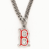 MLB Boston Red Sox 63400061 Necklace with Charm Clamshell