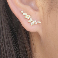 Dainty vine ear climbers | ear crawlers earrings | ear climber earrings | ear crawlers | ear pins | ear sweeps