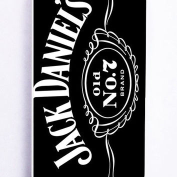 iPhone 5 Case - Rubber (TPU) Cover with Jack Daniels Old No 7 Brand Rubber Case Design
